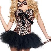 Cosplay Kostumer Festkostume Dyremønster Festival/Højtider Halloween Kostumer Leopard Bukser Zentai Hale Slips HovedtøjHalloween Jul