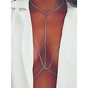 女性用 ボディジュエリー ボディチェーン/ベリーチェーン ファッション 銅 ラインストーン 幾何学形 ジュエリー 用途 日常着