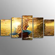 キャンバスプリント 抽象画,5枚 キャンバス 横式 プリント 壁の装飾 For ホームデコレーション