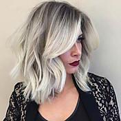 新しいタイプの部分的な前髪ombreの色自然な縮毛人間の毛のかつら