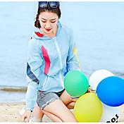 レディース カジュアル 夏 ジャケット,シンプル フード付き プリント レギュラー ポリエステル 長袖
