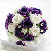 1 Rama Poliéster Rosas Flor de Mesa Flores Artificiales