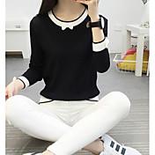 Mujer Regular Cardigan Casual/Diario Estampado Escote Redondo Manga 3/4 Algodón Primavera Medio Microelástico