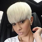 Pelucas rectas cortas blancas exquisitas únicas del pelo humano