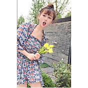 Mujer Bonito Casual/Diario Verano Tank Top Pantalón Trajes,Con Tirantes Floral Manga Tres Cuartos