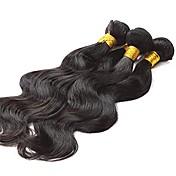 人間の髪編む ブラジリアンヘア ウェーブ 12ヶ月 3 ヘア織り kg 簡単装着つけ毛
