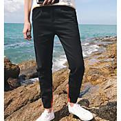 Hombre Sencillo Tiro Medio Microelástico Vaqueros Pantalones,Delgado Bloques