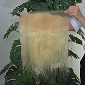 El pelo humano virginal brasileño lujoso 613 cordón rubio encadena la onda libre 13x4 del cuerpo de la pieza del pelo blanqueado pelo del