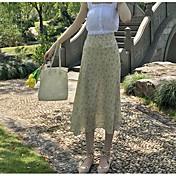 Mujer Playa Sobre la Rodilla Faldas,Columpio Verano Estampado