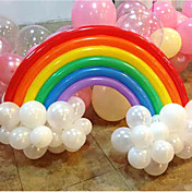 globo arco iris decoración de la boda fiesta de cumpleaños (20 de globo largo, 16 globos, color al azar)