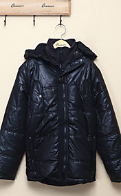 Chunyazi starke warme Hoodie Padded Coat (Schwarz)