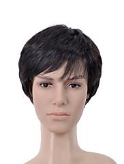 kratka ravna crna strana bang muškaraca kosa vlasulja