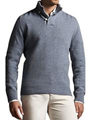 特殊な襟デザインボタン留めカシミアセーター/メンズカシミヤセーター