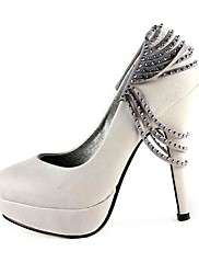 Leatherette Upper Stiletto Heel Pumps/ Closed Toe With Rivet Party/ Evening Shoes