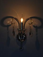 moddern krystal nástěnné svítidlo