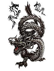 5 kom crna zmaja vodootporni privremeni tattoo (20cm * 10cm)