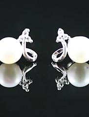 925 mincovní stříbro se sladkovodními perlové náušnice stud (více barev)
