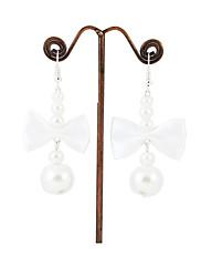 pohádkové imitace perel / satén s lehkých slitin náušnice pokovování svatební