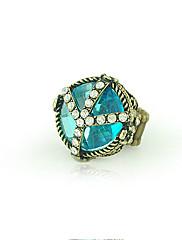modrý krystal prsten