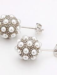 módní imitace perlové náušnice z lehkých slitin stud