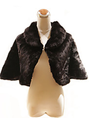 Elegantní 3/4-length rukávy vysoká krk umělé kožešiny zvláštní příležitosti bunda / zábal