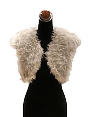 Elegantní umělé kožešiny jehněčí kožešiny svatební / zvláštní příležitost večer bunda / zábal bolero oklepat