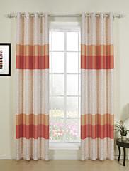Dva panely Window Léčba Designové , S proužky Jídelna Směs polybavlny Materiál záclony závěsy Home dekorace For Okno