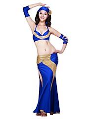 女性より多くの色のためのゴージャスなダンスウェアスパンデックスのパフォーマンスベリーダンスの衣装