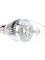 E14 3W 270-290LM 5800-6300KナチュラルホワイトライトLEDキャンドル電球(85-265V)