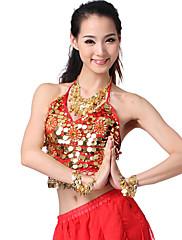 výkon dancewear šifón s flitry a mincemi břišní tanec top více barev