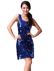 výkon dancewear chinlon s flitry tvaru kapky latin dance šaty