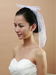 svatební síť s Birdcage bowknot ženských závoje