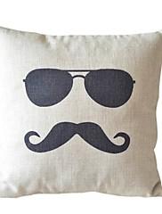 クールな男の綿/リネン装飾的な枕カバー