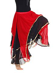 dancewear šifón s úrovněmi výkonu kalhot břicho pro ženy více barev