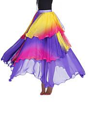 dancewear viskózy s úrovněmi výkonu sukně břišní pro dámy více barev