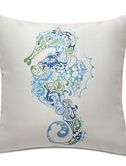 seahorse navigační print dekorativní polštář