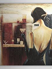手描き 人物 油絵 中枠付き HB-1326