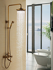 Starožitné Sprchový systém Dešťová sprcha Včetne sprchové hlavice with  Keramický ventil Dvěma uchy tři otvory for  Starožitná mosaz ,