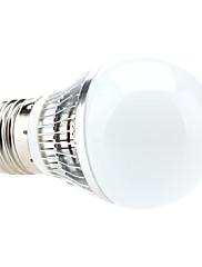 E27 3W 240-270LM 6000-6500KナチュラルホワイトLEDライトボールバルブ(85-265V)