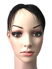 100% indické vlasy 5,5 palců krátký mono top kusů