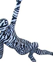 zebra pruhy spandex lycra celého těla Zentai