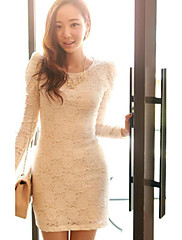 krajka dámské puff rukáv bodycon šaty