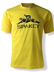 SPAKCTポリエステル100%通気性の乗馬文化Tシャツ(イエロー)