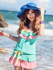 dámské roztomilých multi-barevné volánky plavky s podprsenky polštářky