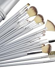18個の高品質のプロフェッショナルシルバーグレー化粧ブラシセット