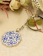 Pochromovaný Přívěsky na klíče ODMĚNY Piece / Set Klíčenky Asijská motiv Přizpůsobeno Stříbrná Modrá