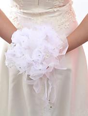 Pretty atado a mano de novia de raso ramo de novia con Rhinestone (más colores)