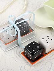 kostky keramického designu sůl a pepřenky