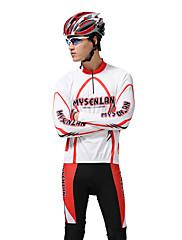 MYSENLAN新しいPNメッシュ+フレックス素材ロングスリーブ速乾性の男性サイクリングスーツを設計