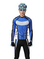 MYSENLAN PNメッシュ+フレックス素材長袖通気男性サイクリングスーツ